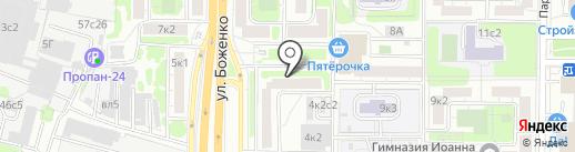 Муниципальный фонд поддержки малого предпринимательства Западного административного округа на карте Москвы