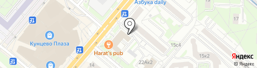 Банк Сибэс на карте Москвы