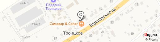 Постоялый двор на карте Троицкого