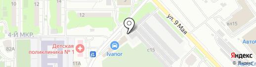Автозапчасти на Парковой на карте Химок