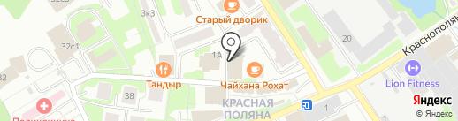 Магазин мясной продукции на карте Лобни