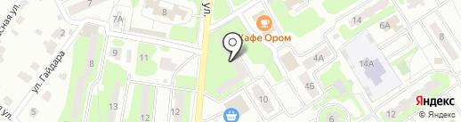 Продуктовый магазин на Аэропортовской на карте Лобни