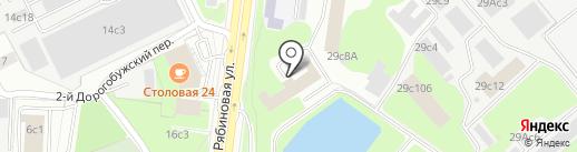 Корда на карте Москвы
