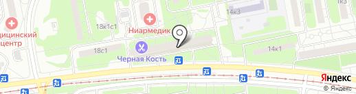 Динозаврик на карте Москвы