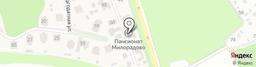 Милорадово на карте Городища