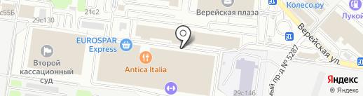 Империя воды на карте Москвы