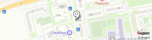 Славянское на карте Лобни