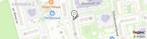 Продовольственный магазин на карте Лобни