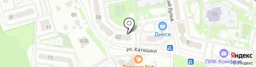Цветочный бульвар на карте Лобни