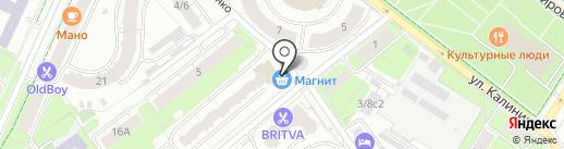 Магазин выпечки на карте Химок