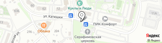 Киоск по продаже выпечки на карте Лобни