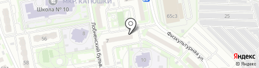 Магазин продуктов на карте Лобни