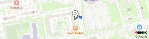 Маска на карте Лобни