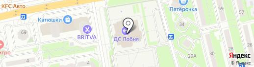 Экипаж на карте Лобни