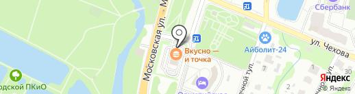 Макдоналдс на карте Чехова