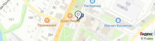 Киоск по продаже печатной продукции на карте Чехова