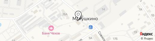 Магазин продуктов на карте Манушкино