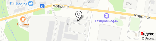 Бикра на карте Долгопрудного