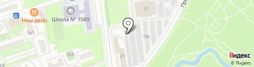 Аминьевский на карте Москвы