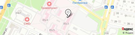 Чеховская городская больница №1 на карте Чехова