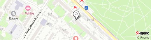 Милава на карте Москвы