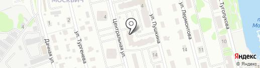 Москвич, ТСЖ на карте Лобни