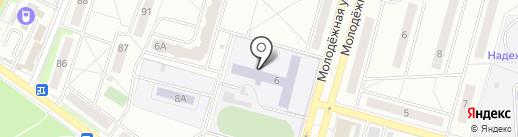 Средняя общеобразовательная школа №1 с углубленным изучением отдельных предметов на карте Чехова