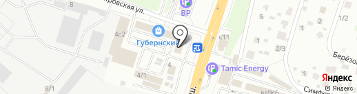 Губернский на карте Чехова