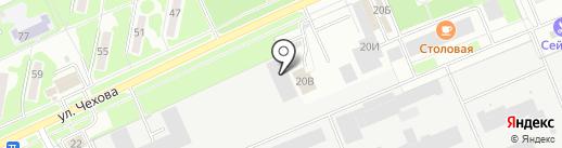 Принт на карте Чехова