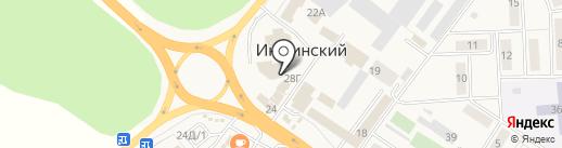 Магазин канцелярских товаров в Иншинском поселке на карте Иншинского