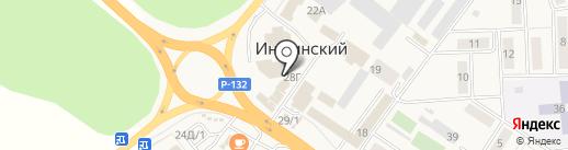 Магазин канцелярских товаров на карте Иншинского