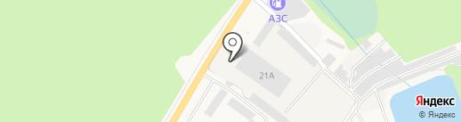 ИнвестСтрой на карте Иншинского