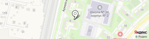 Умка на карте Подольска
