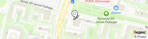 Линзомат на карте Подольска