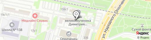 Образ жизни на карте Москвы