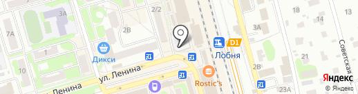 Магазин овощей и фруктов на карте Лобни