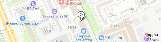 Московский пекарь на карте Москвы