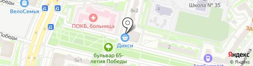 Магазин домашнего текстиля на карте Подольска