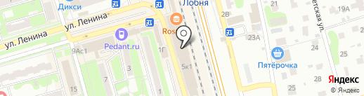 Магазин нижнего белья на карте Лобни