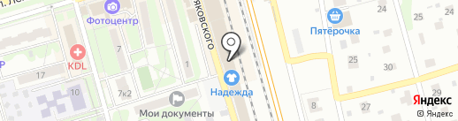 Магазин одежды и обуви на карте Лобни