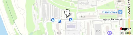 Автостоянка на карте Долгопрудного