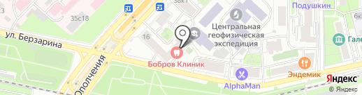 Серафимов двор на карте Москвы