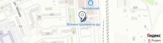 Чарт на карте Чехова