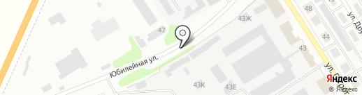 Автостоянка на ул. Пирогова на карте Щёкино