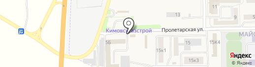Придорожный на карте Первомайского