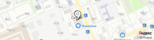 СИНЕКС на карте Москвы
