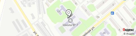 Средняя школа №7 на карте Щёкино
