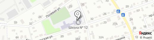 Средняя школа №12 на карте Щёкино
