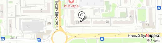 Дирижабль на карте Долгопрудного
