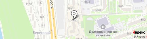 Красотуля на карте Долгопрудного